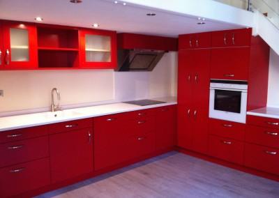 cuisine laqué rouge