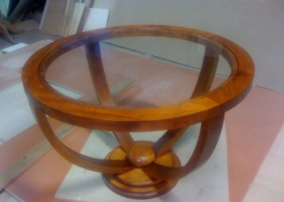 table de salon en merisier