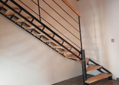 escalier bois & métal
