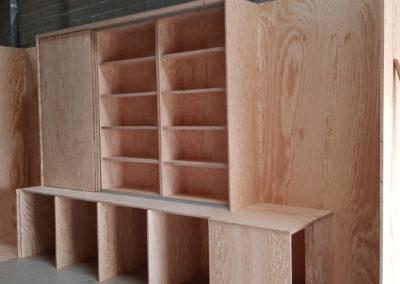 fabrication mur armoire